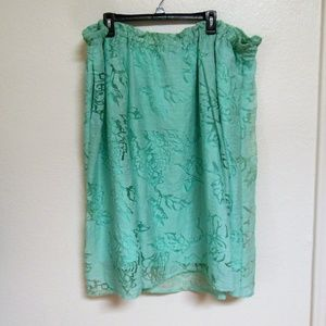 Lane Bryant Teal Long skirt 22/24